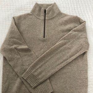 Men's 1/4 zip jcrew slim sweater